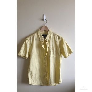 FOREVER 21 MENS YELLOW BUTTON DOWN TOP SIZE MEDIUM